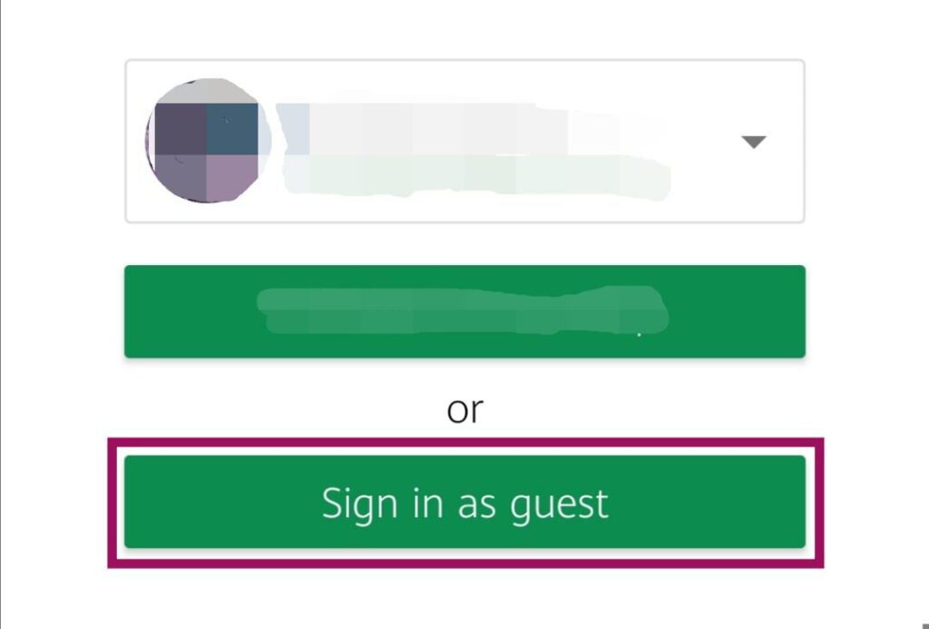 """Click """"Sign in as guest"""""""